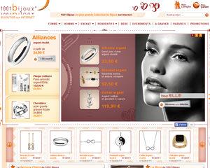 Page d'accueil de 1001 Bijoux