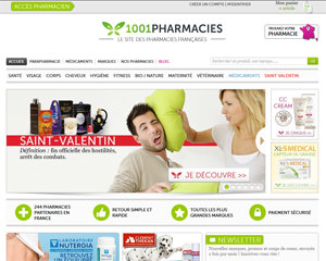 Page d'accueil de 1001 Pharmacies