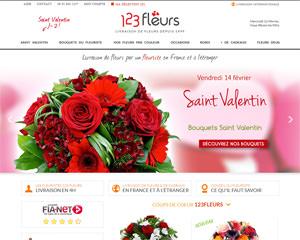 Page d'accueil de 123 Fleurs