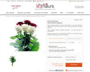Une fiche produit de 123 Fleurs