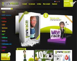 Page d'accueil de 1miniface