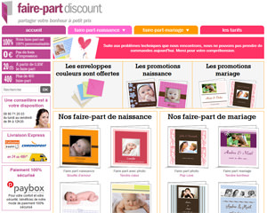 Faire-part discount
