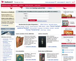 Page d'accueil de AbeBooks