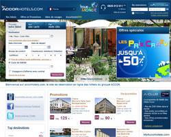 Page d'accueil de Accor hôtels