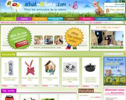 Page d'accueil de Achat Nature