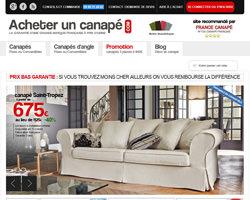 Page d'accueil de Acheter un canapé