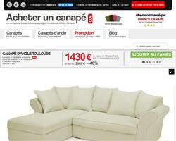 Une fiche produit de Acheter un canapé