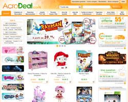 Page d'accueil de AcroDeal
