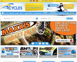 Page d'accueil de Acycles