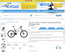 Une fiche produit de Acycles