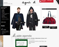Page d'accueil de Agnes b.