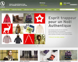 Page d'accueil de Aigle Store