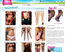 Page d'accueil de Aiko Lingerie