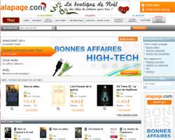 Page d'accueil de Alapage