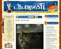 Page d'accueil de Alchimiste games