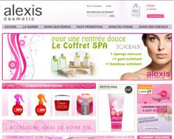 Page d'accueil de Alexis Cosmetic