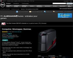 Une fiche produit de Alienware