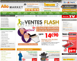 Page d'accueil de Allo Market