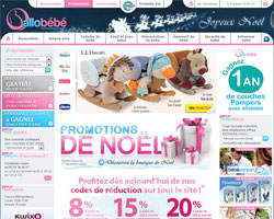 Page d'accueil de Allobebe