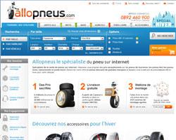 Page d'accueil de Allopneus