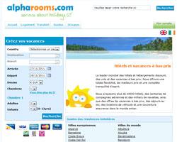 Page d'accueil de Alpharooms