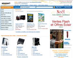 Page d'accueil de Amazon