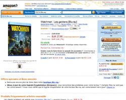 Une fiche produit de Amazon