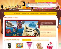 Page d'accueil de Anniversaire en ligne