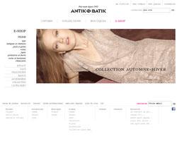 Page d'accueil de Antik Batik