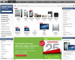 Page d'accueil de Apple Store France