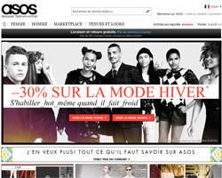 Page d'accueil de ASOS