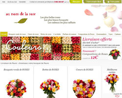 Page d'accueil de Au nom de la rose