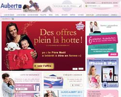 Page d'accueil de Aubert