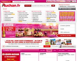Page d'accueil de Auchan