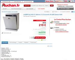 Une fiche produit de Auchan