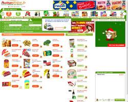 Page d'accueil de Auchan Direct
