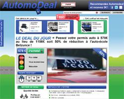 Page d'accueil de Automodeal