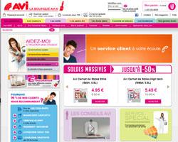 Page d'accueil de Avi