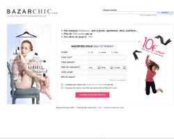 Page d'accueil de BazarChic