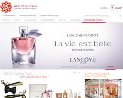 Page d'accueil de Beauty Success