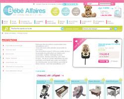 Page d'accueil de Bebe Affaires