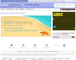 Page d'accueil de Bebesshopping