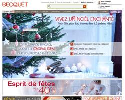 Page d'accueil de Becquet