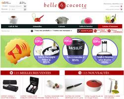 Page d'accueil de Belle Cocotte