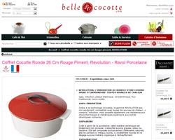 Une fiche produit de Belle Cocotte