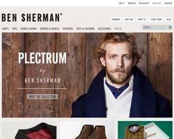 Page d'accueil de Ben Sherman
