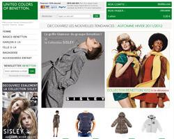 Page d'accueil de Benetton