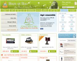 Page d'accueil de Bien et Bio