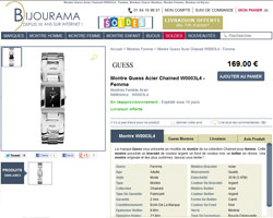 Une fiche produit de Bijourama
