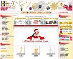 Page d'accueil de Bijouterieonline